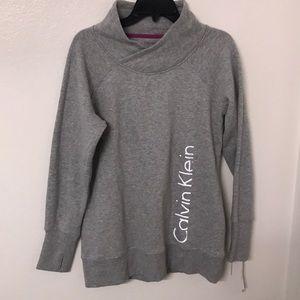 Calvin Klein performance gray sweater